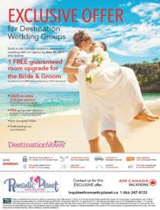 Air Canada Vacations Wedding Deal